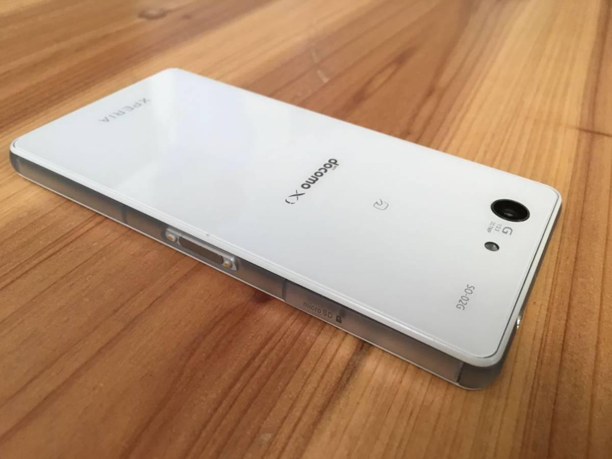 ■美品■Docomo Xperia Z3 Compact (SO-02G) ホワイト_画像6