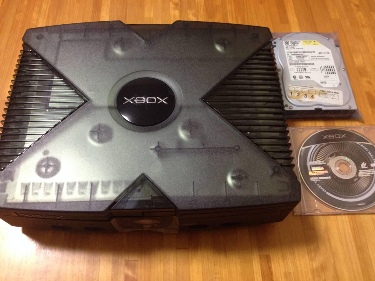 改造XBOX本体 [HDD500GB交換 メモリ増設128MB DBをEVOXからXBMCに変更DLC68&TUD25タイトル追加]