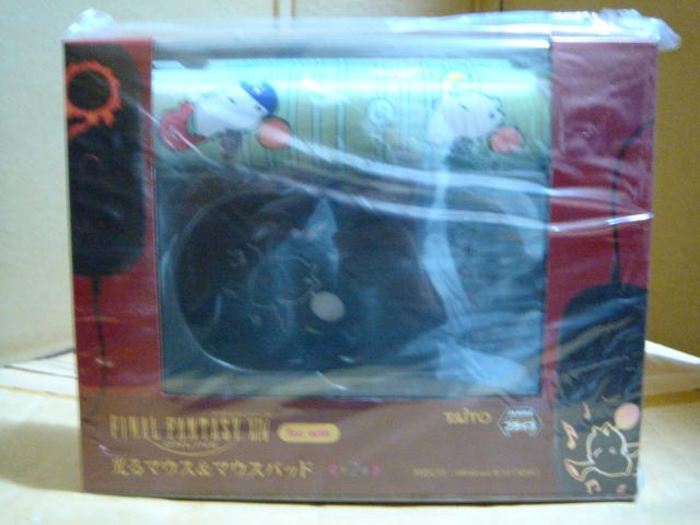新品 未開封 未使用 FAINAL FANTASY XIV ONLINE 光るマウス&マウスパッド モーグリ ファイナルファンタジー XIV タイトー グッズの画像