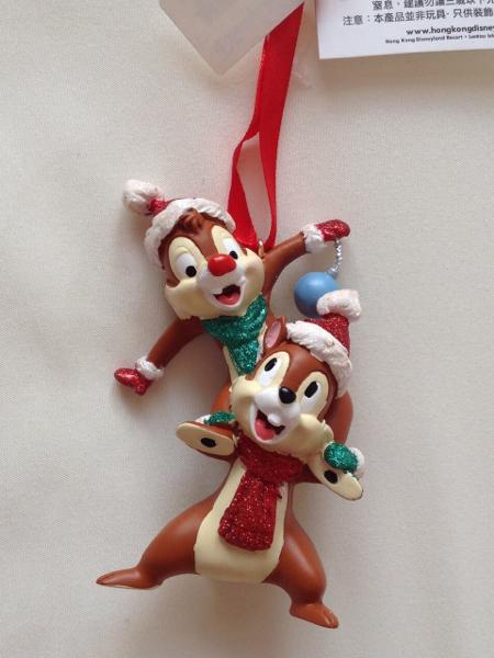 香港 ディズニー チップ&デール クリスマス オーナメント ディズニーグッズの画像