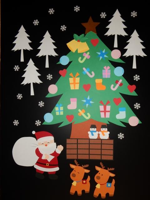 ★クリスマスの壁面飾り★ 幼保小学校施設病院お店自宅などに