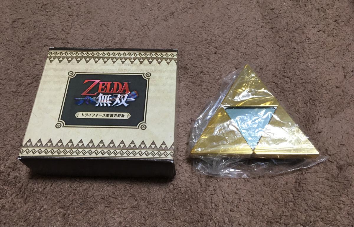 【未使用品】ゼルダの伝説 ゼルダ無双 トライフォース型置き時計