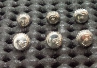 ROLEX ロレックス 銀色リューズロゴ入りサイズ各種6個セット 部品 ジャンク