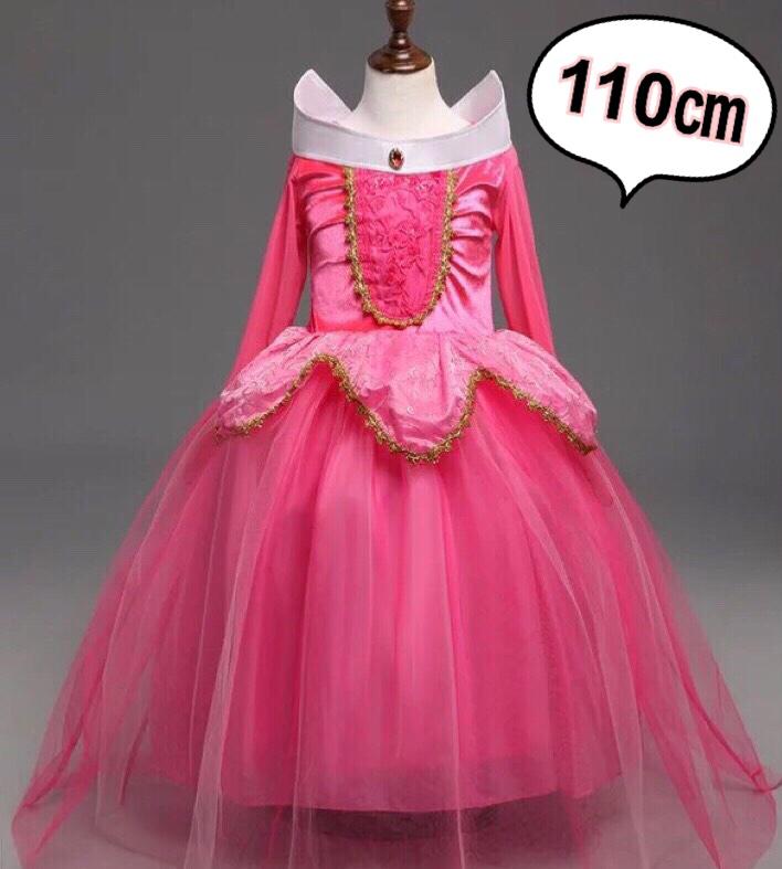 【新品】眠れる森の美女 オーロラ姫 プリンセス ドレス 110㎝ ディズニーグッズの画像