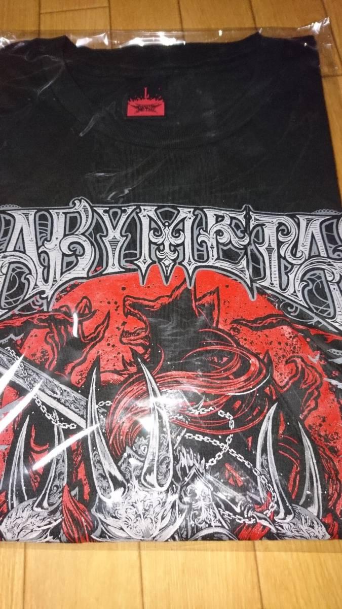 新品未開封 BABYMETAL 巨大キツネ祭り in JAPAN 「METAL WALKULE」TEE Tシャツ Lサイズ ライブグッズの画像