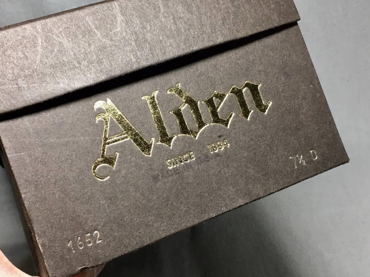 希少 《 デッドストック 》 90s オールドモデル 【 ALDEN オールデン ブラック カーフ コインローファー 7.5D アメリカ製 箱付き 】_画像8