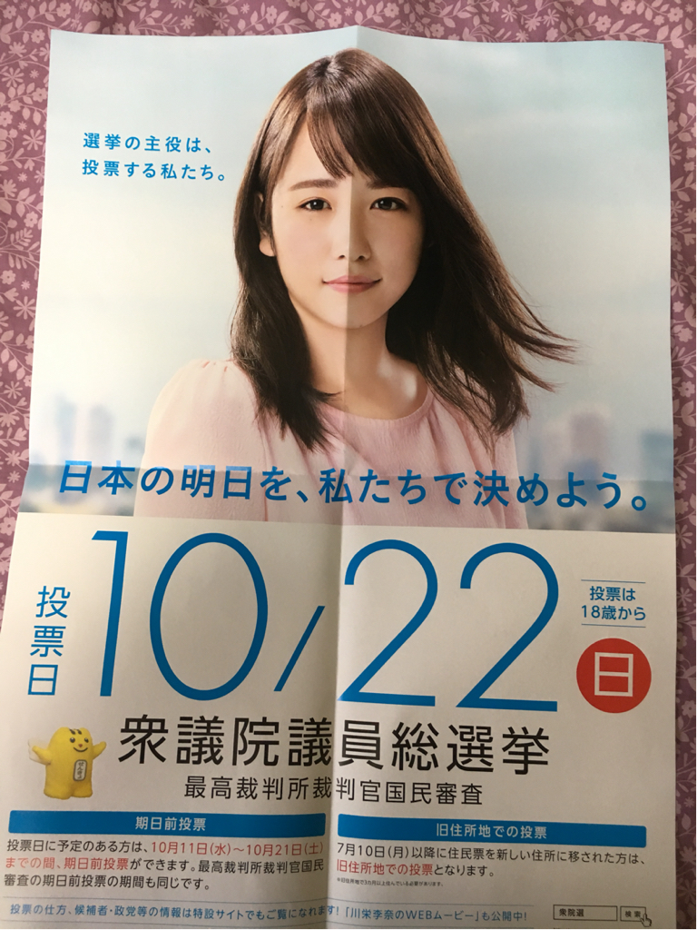 川栄李奈 総選挙ポスター B2サイズ