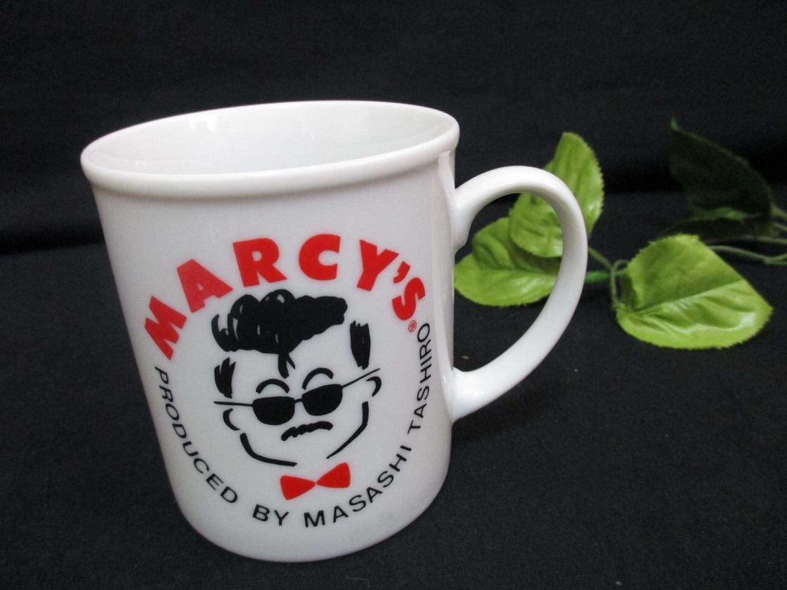 ■昭和レトロ雑貨■入手困難!田代まさし×マーシー レアマグカップ コップ MARCY'S ラッツ&スター シャネルズ♪グラサンプリント★