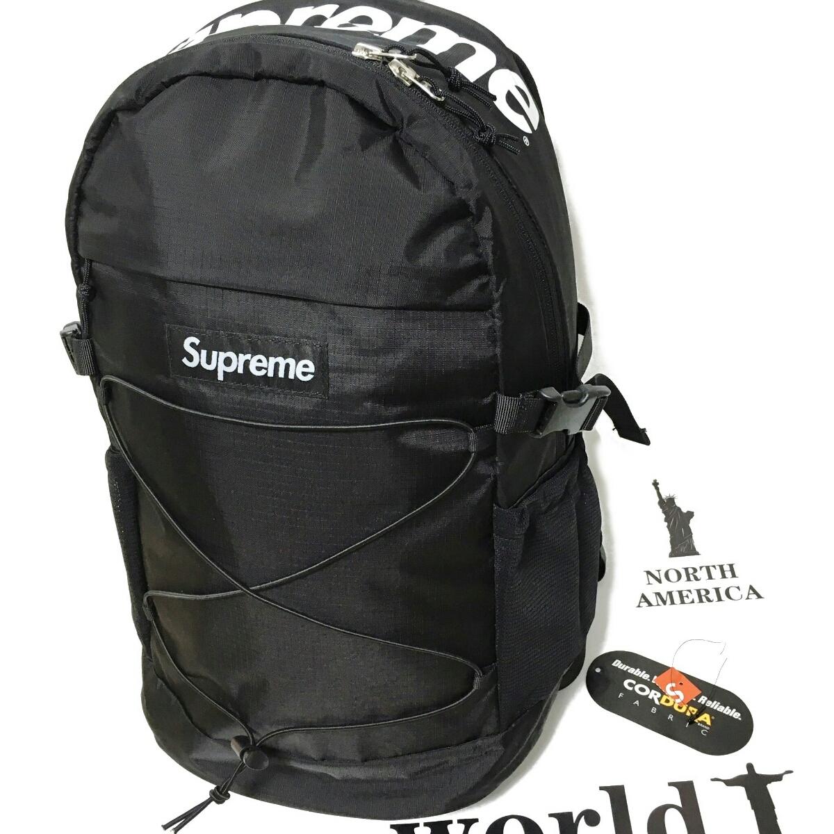 新品同様 supreme 16ss bacpack シュプリーム バックパック 黒
