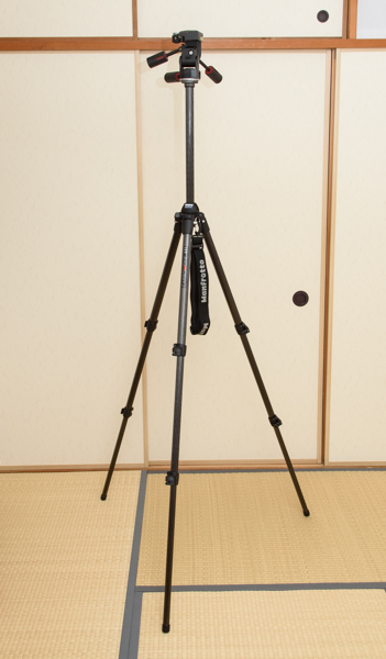 Manfrotto カーボン三段三脚 441 3Dプロ雲台 229 セット_画像2