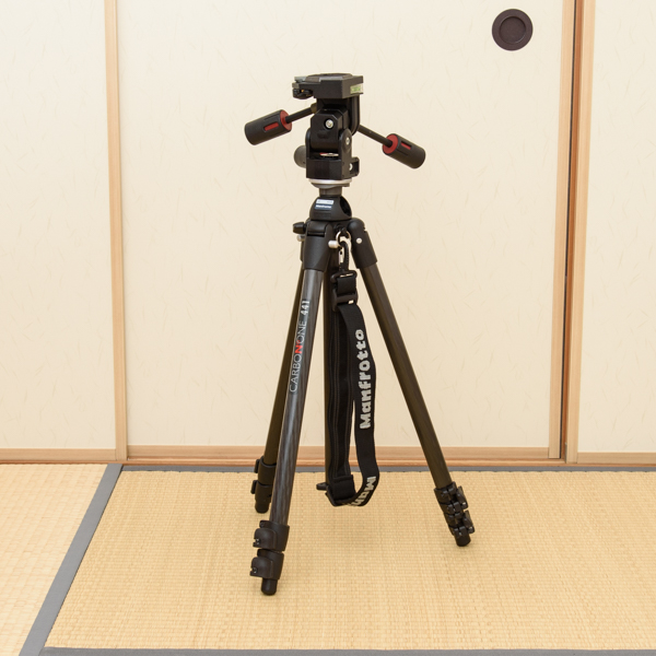Manfrotto カーボン三段三脚 441 3Dプロ雲台 229 セット