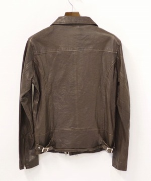 URBAN RESEARCH ROSSO アーバンリサーチ ロッソ ダブルライダースジャケット L BROWN ブラウン DOUBLE RIDERS JACKET LEATHER ラムレザー_画像2