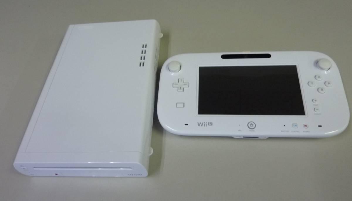 [ジャンク品] WiiU 本体(shiro/32GB) と Wii U GamePad(shiro)