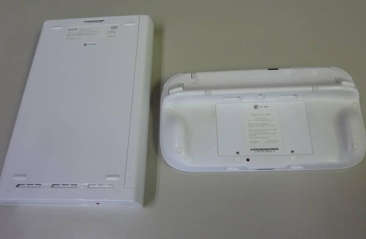 [ジャンク品] WiiU 本体(shiro/32GB) と Wii U GamePad(shiro)_画像2
