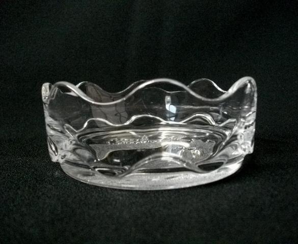 深皿/小皿/小鉢★10cm/ウェーブカット/平底/ガラス製★_画像3