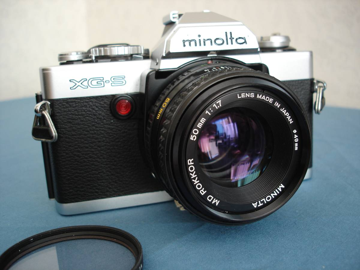 ミノルタ XG-S MDロッコール 50mm f1.7付 完動・美品
