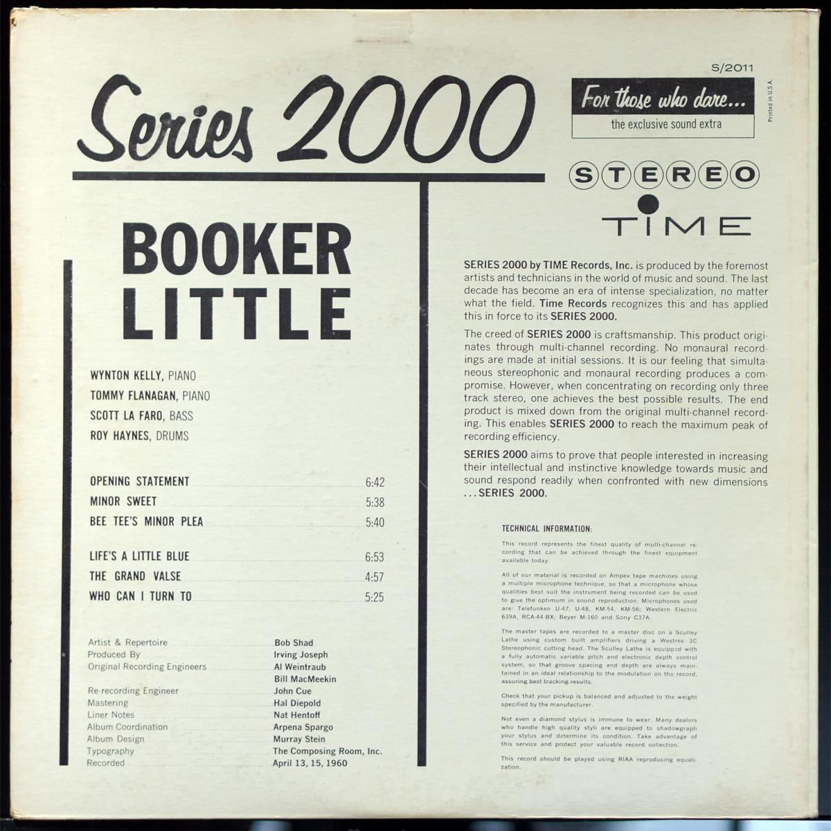 EXジャケット & NM盤 Booker Little Time盤 STEREO_画像2