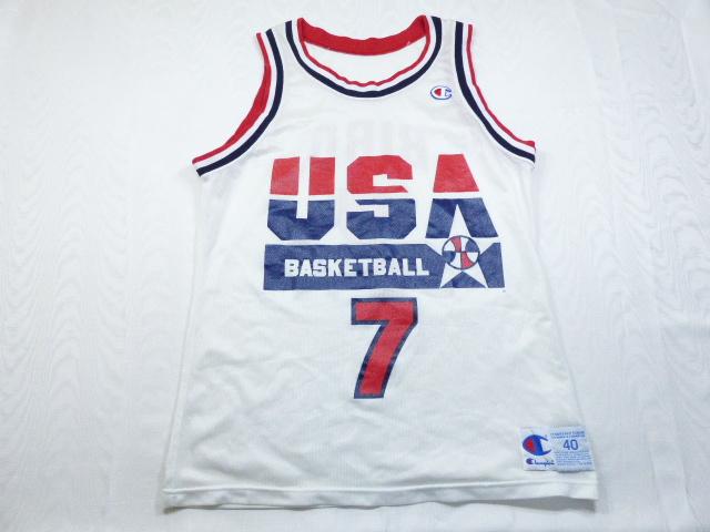 アメリカ製 チャンピオン 1992 バルセロナ オリンピック 五輪 アメリカ代表 NBA 7 ラリー・バード バスケ ユニフォーム サイズ40