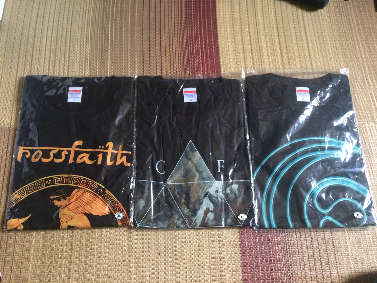 未使用 Crossfaith バンドTシャツ 3点セット ロック ツアー ライブ XLサイズ