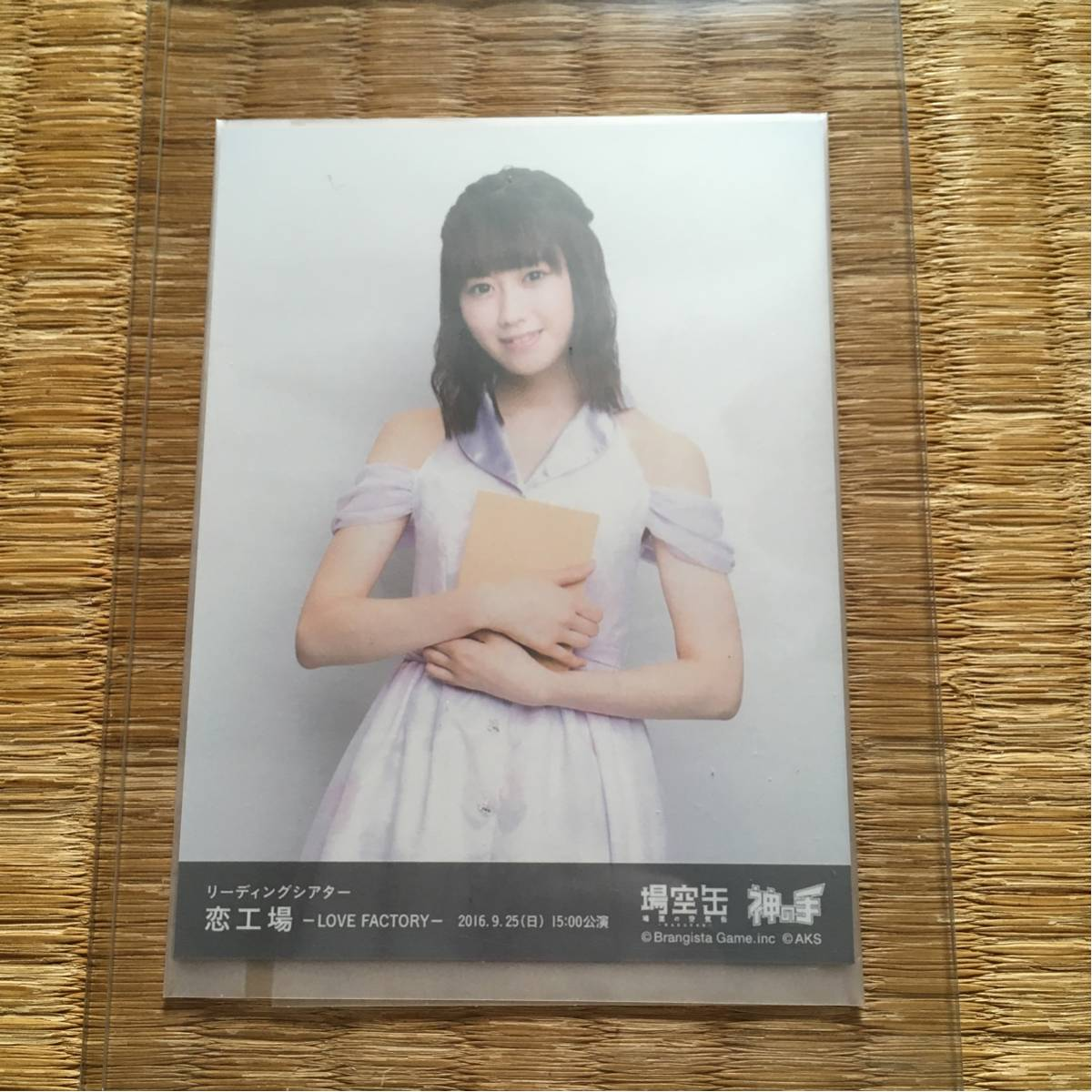NGT48 西潟茉莉奈 リーディングシアター 恋工場 場空缶 神の手 生写真 ライブグッズの画像