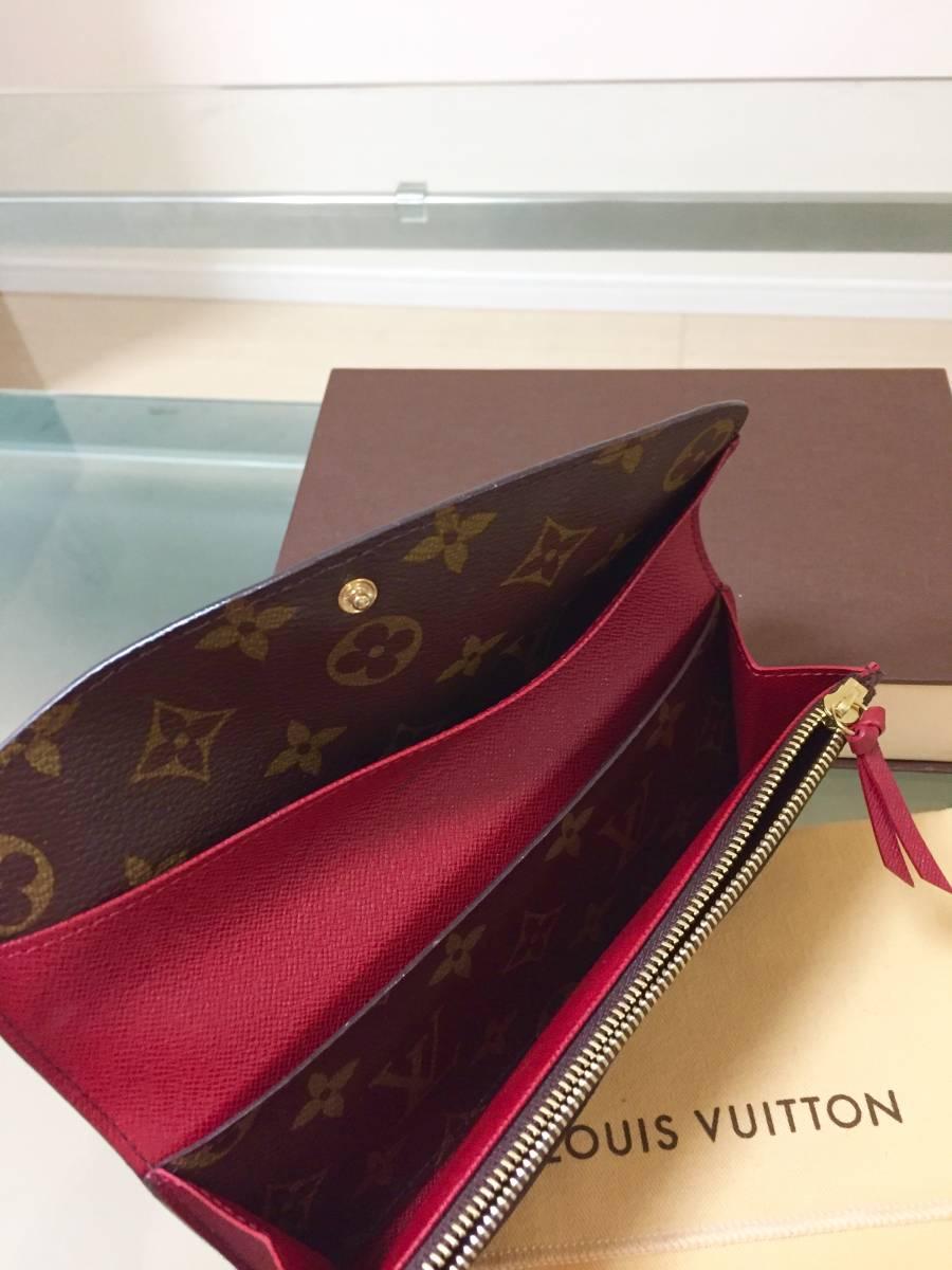 新品同様 ルイヴィトン モノグラム ポルトフォイユ・エミリー 長財布 箱付き!_画像5