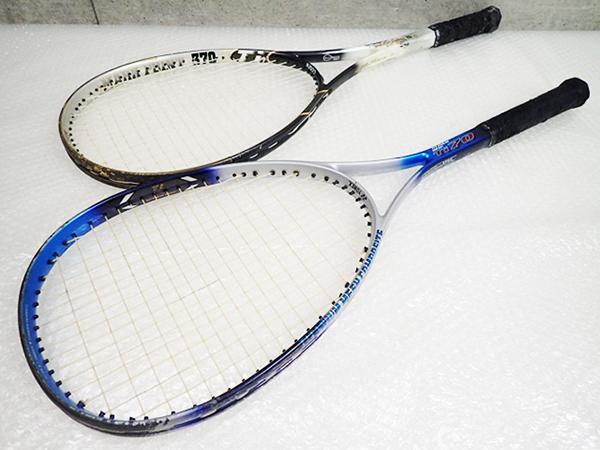 ヨネックス YONEX チタンメッシュ Ti-70 GOSEN ゴーセン 370 Ti テニスラケット 計2点 管理1015ZFF
