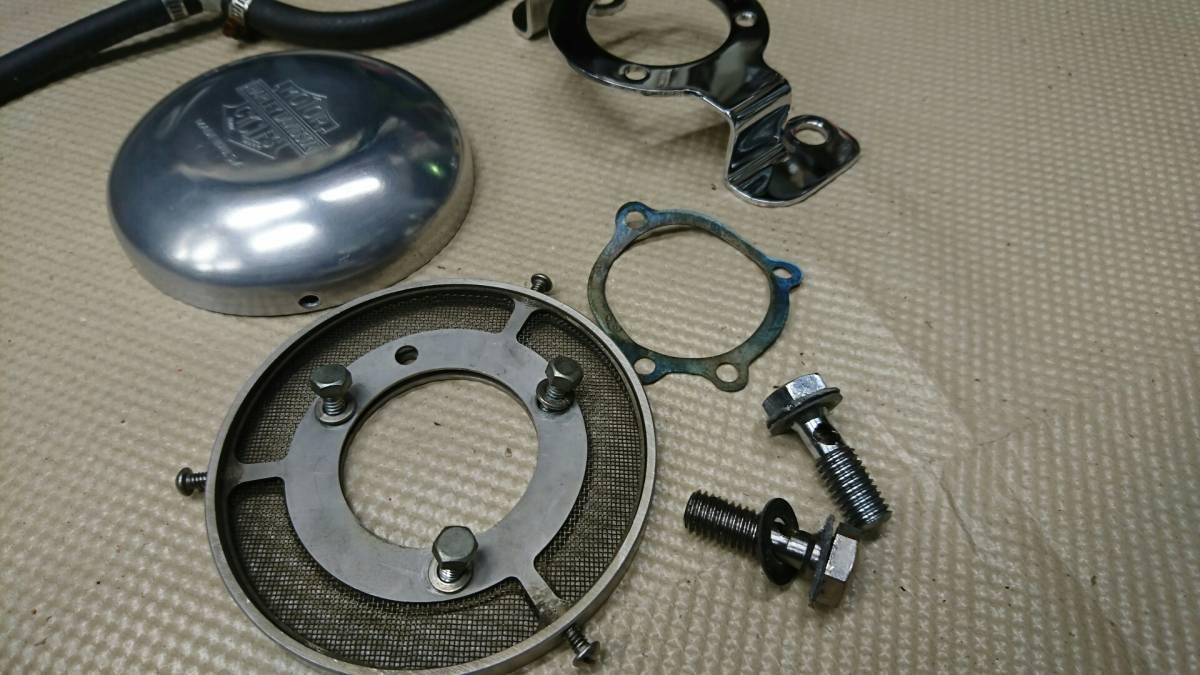 ナイスモーターサイクル 5インチエアクリーナーカバーセット 91~06 CVキャブ スポーツスター XL1200C 中古 格安 断捨離の為売り切りです_画像3