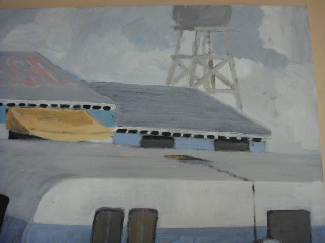 ◆ Donald lloyd smith ドナルド・ロイド・スミス/Palm Springs Artist エアストリーム 90's油彩画 検 デヴィッド・ホックニー_画像5