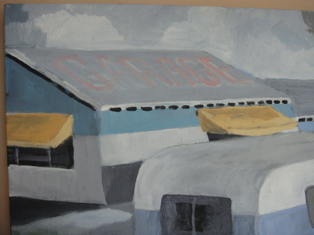 ◆ Donald lloyd smith ドナルド・ロイド・スミス/Palm Springs Artist エアストリーム 90's油彩画 検 デヴィッド・ホックニー_画像4