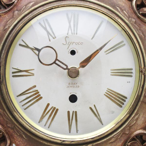 送料無料 アンティークウォールクロック SYROCO/ヴィンテージ壁掛け時計アメリカ製usa製ミッドセンチュリーモダン北欧昭和レトロ50s60s70s_画像3