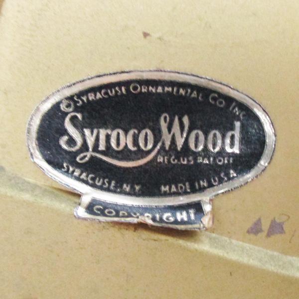 送料無料 アンティークウォールクロック SYROCO/ヴィンテージ壁掛け時計アメリカ製usa製ミッドセンチュリーモダン北欧昭和レトロ50s60s70s_画像5