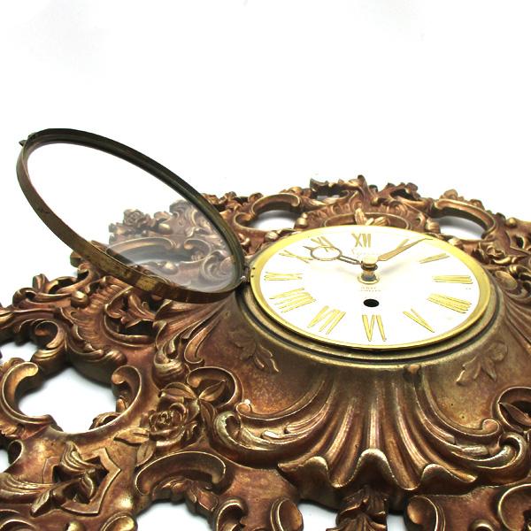 送料無料 アンティークウォールクロック SYROCO/ヴィンテージ壁掛け時計アメリカ製usa製ミッドセンチュリーモダン北欧昭和レトロ50s60s70s_画像7