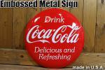アメリカ看板 COCA-COLA コカコーラ ロゴ ボタン型