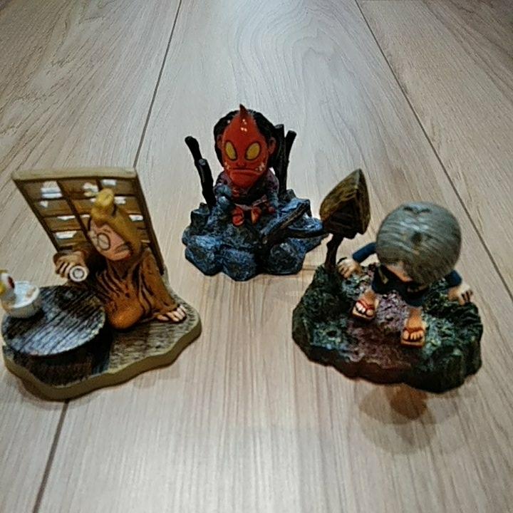 ゲゲゲの鬼太郎 フィギュア 3セット  グッズの画像