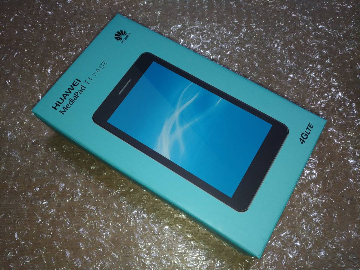 HUAWEI MediaPad T1 7.0 LTE SIMフリー シルバー RAM1GB ほぼ未使用 美品!