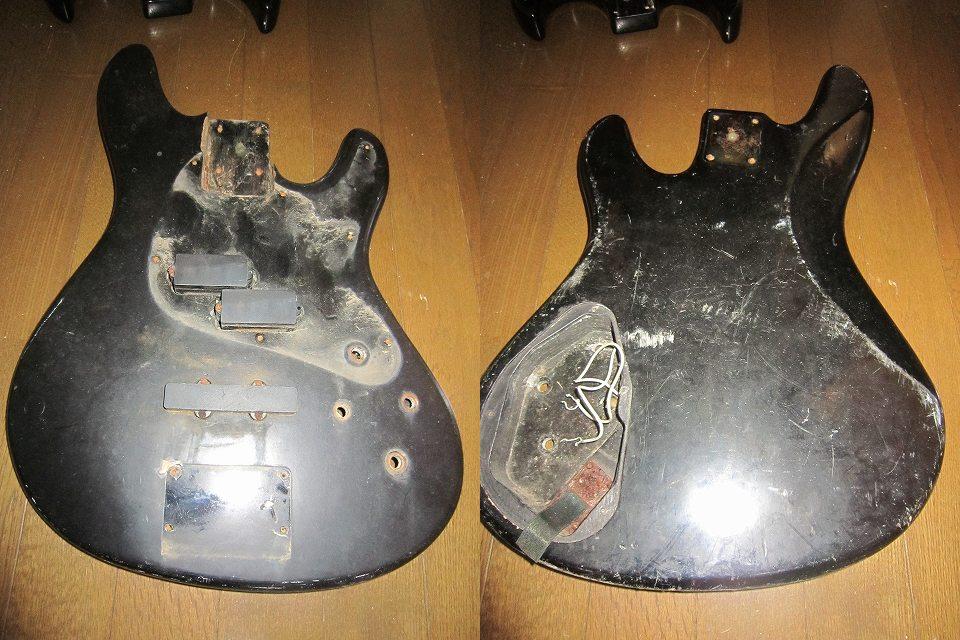 【ジャンク】ギターボディ4枚セット おまけPU付き_画像2
