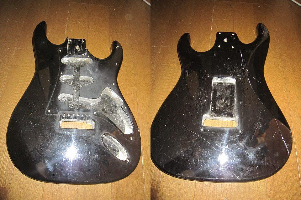 【ジャンク】ギターボディ4枚セット おまけPU付き_画像3