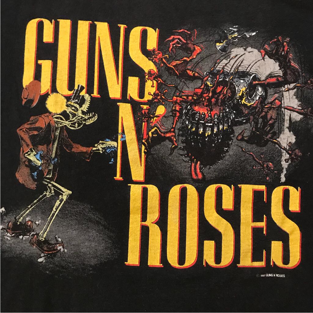 美品 80s guns n' roses 発禁レイプTシャツ ガンズアンドローゼズ ライブグッズの画像