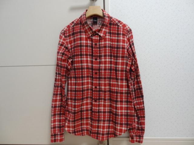 ★★プレッジ チェックシャツ レッド系② サイズ48★★_画像1