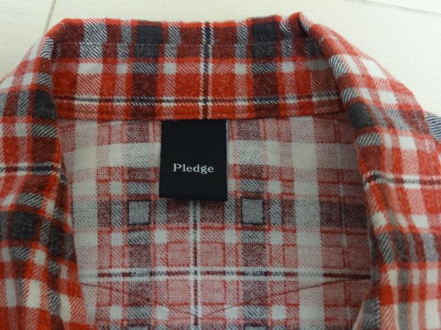 ★★プレッジ チェックシャツ レッド系② サイズ48★★_画像2