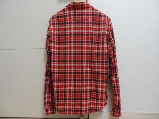 ★★プレッジ チェックシャツ レッド系② サイズ48★★_画像3