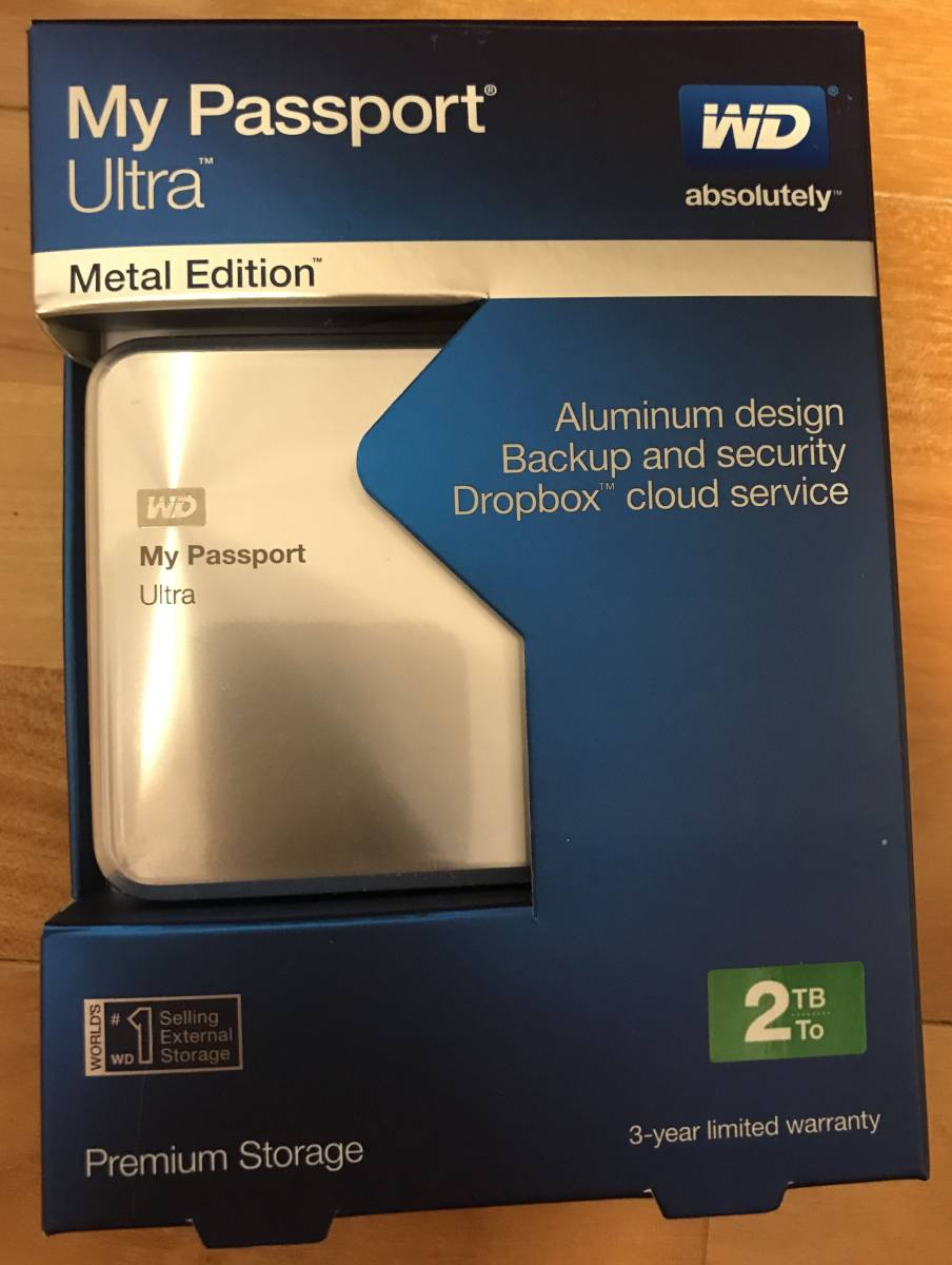【中古】WD HDD 2TB My Passport Ultra
