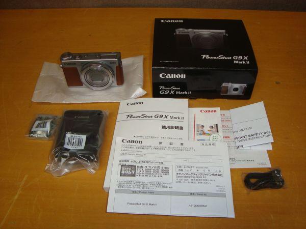 新品未使用品メーカー保証付 Canon キャノン PowerShot G9X MarkⅡ コンパクトデジタルカメラ