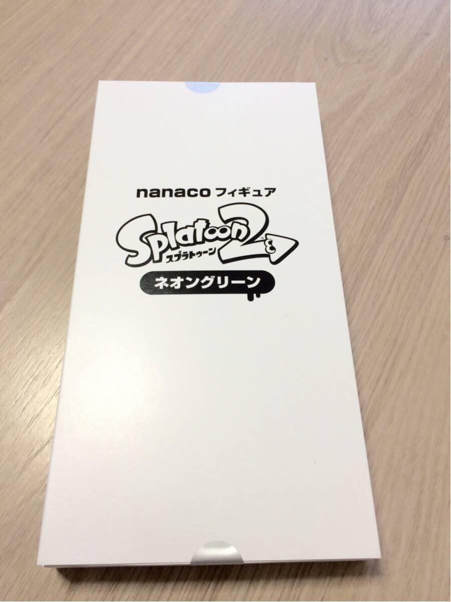 即発送可能☆nanacoフィギュアスプラトゥーン2 Splatoon2 ネオングリーン ゲームで装備できるギア ダウンロードコード付き グッズの画像