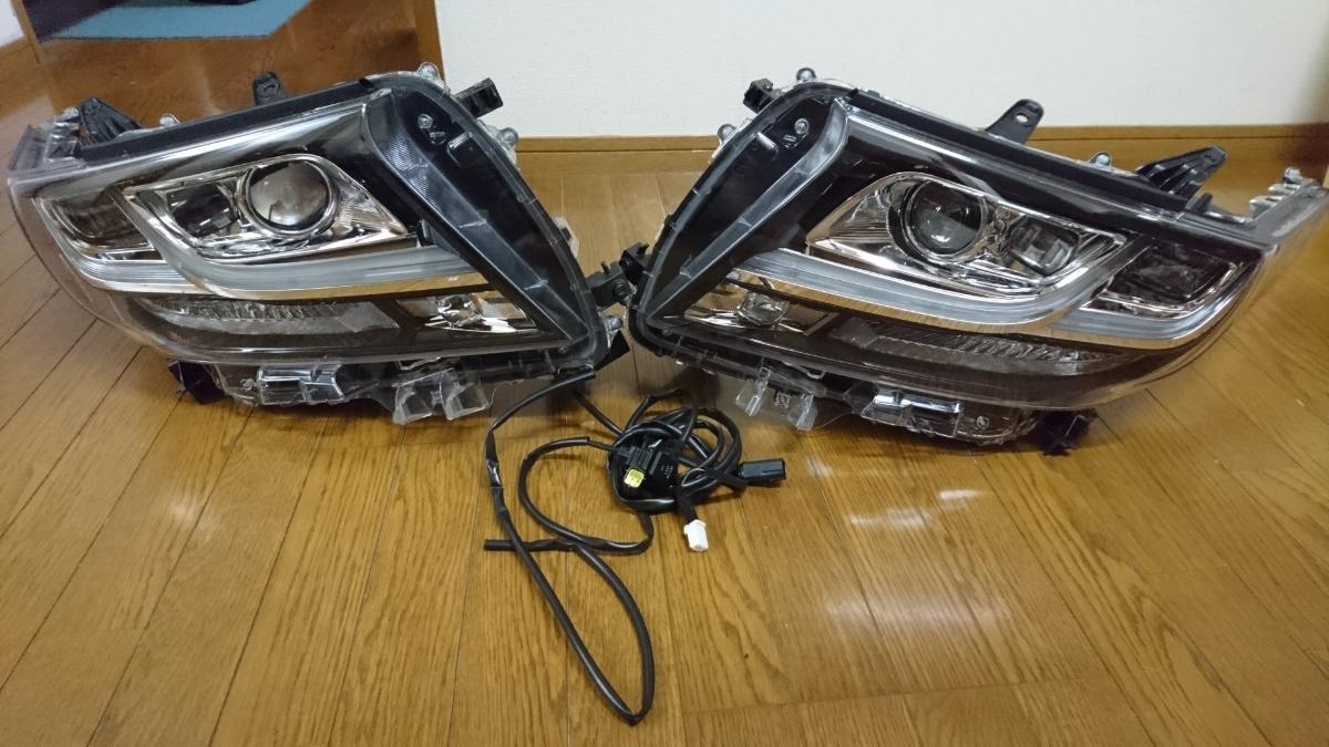 【中古美品】30アルファード 上位グレード ヘッドライト 左右セット ディライト加工品