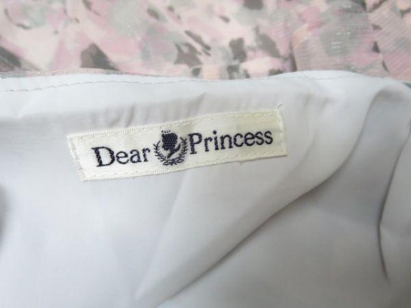 【美品】ディアプリンセス Dear Princess かわいいシフォンミニスカート ティアード 総花柄 ピンク Sサイズ36■管理番号L16384SSA18-171018_画像3