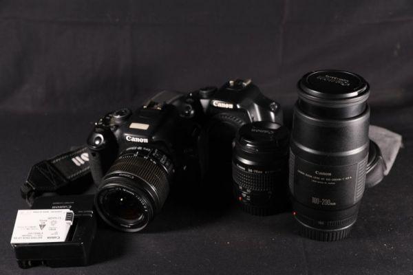 Canon EOS kiss x5 x2 レンズ 3本 ストラップ 等 ジャンク  (DC10180)