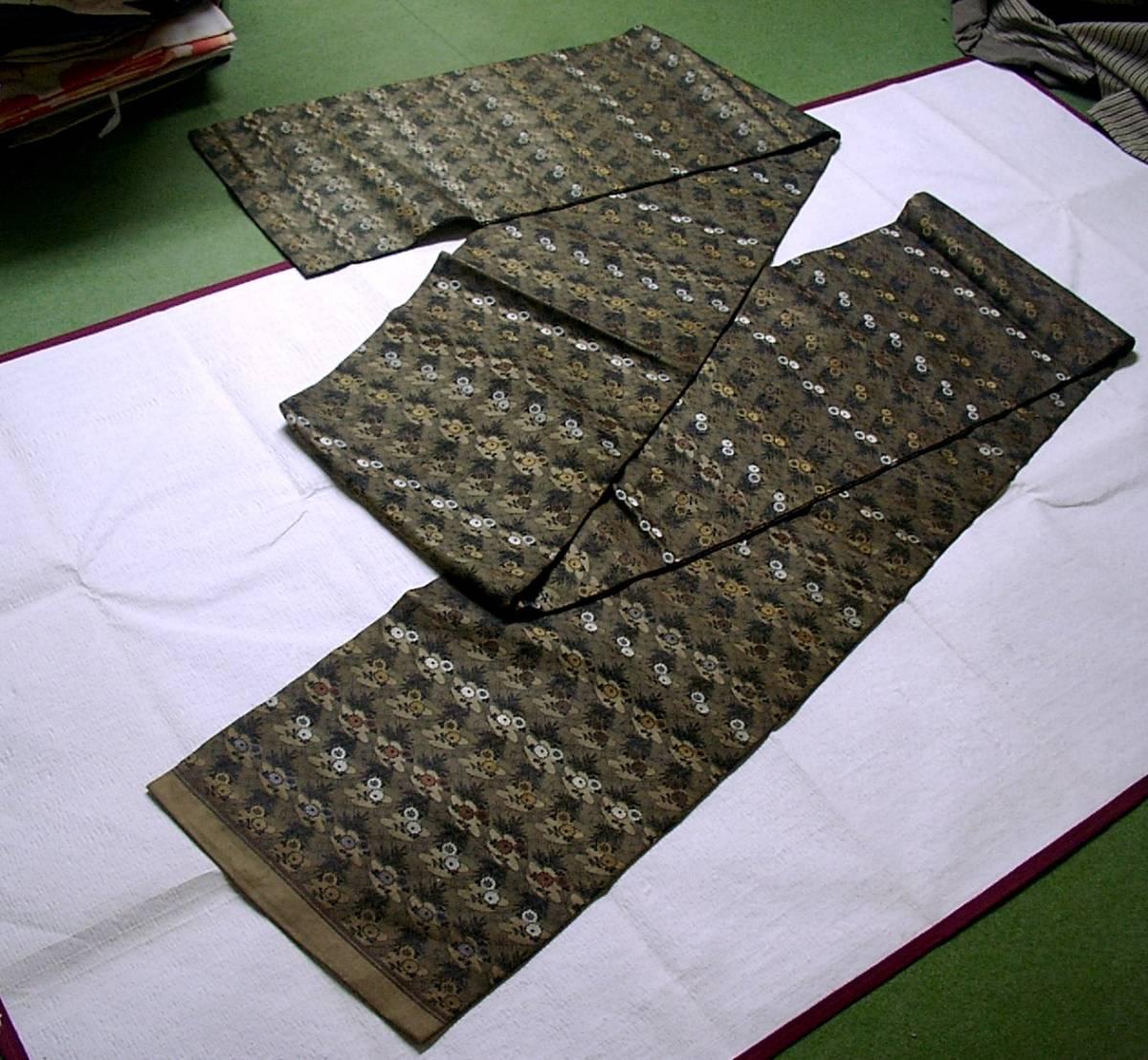 ▼ ♪ ★ ★ distillate antique silk, one-piece sash [flowers statement] Korin chrysanthemum