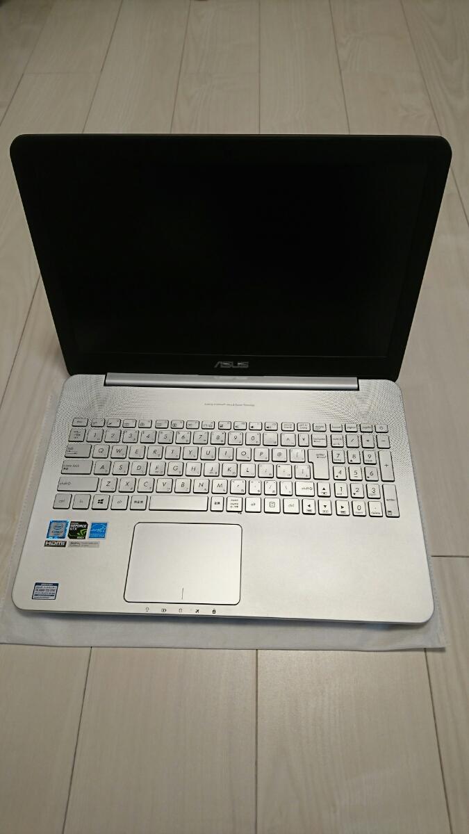 Asus N552Vノートパソコン15インチ Core i7 6700HQ 2コア メモリ16GB SSD256GB GeForce GTX950M 美品1年使用 _画像2