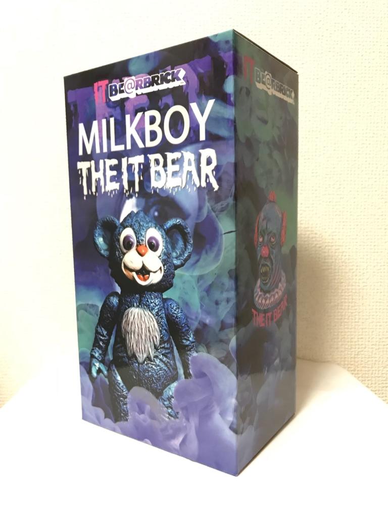 新品未開封 MILKBOYTOYS BE@RBRICK THE IT BEAR 400% MILKBOY Medicom Toy Plus ベアブリック ミルクボーイ メディコム・トイ 即決_画像3